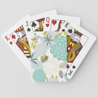 Floral background 5 playing cards