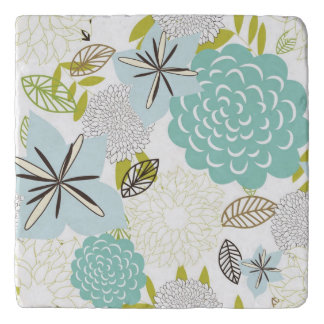 Floral background 5 trivet
