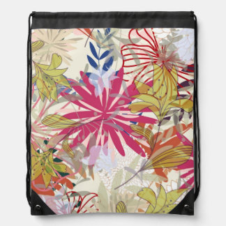 Floral background 6 drawstring bag