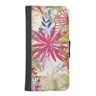 Floral background 6 iPhone SE/5/5s wallet case