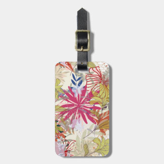 Floral background 6 luggage tag
