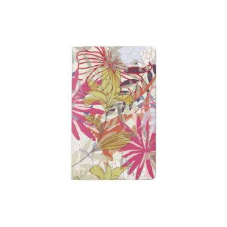 Floral background 6 pocket moleskine notebook