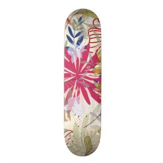 Floral background 6 20.6 cm skateboard deck