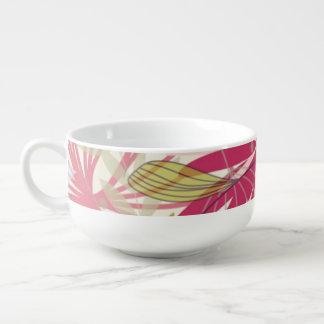 Floral background 6 soup mug