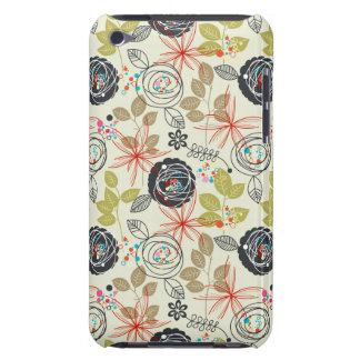 Floral background barely there iPod cases