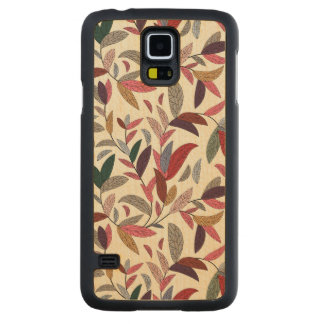 Floral background carved maple galaxy s5 case