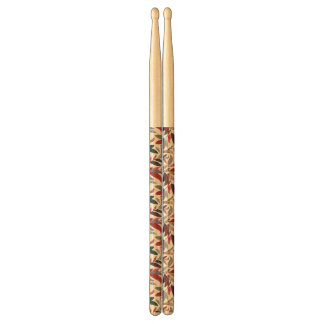 Floral background drumsticks