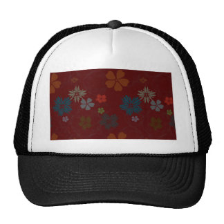 Floral background hats