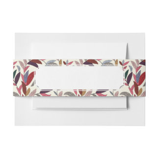 Floral background invitation belly band