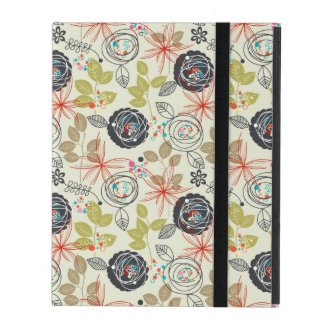 Floral background iPad cover
