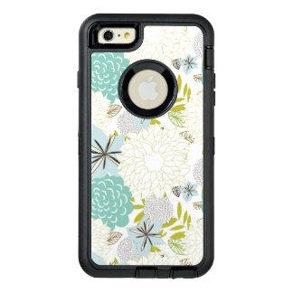 Floral background OtterBox defender iPhone case