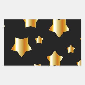 Floral background rectangular sticker