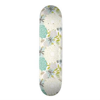 Floral background skate deck