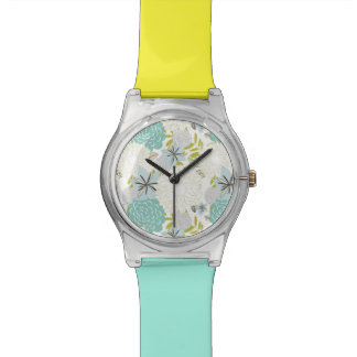 Floral background watch