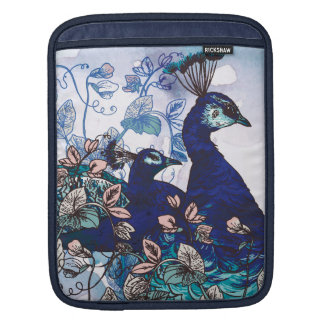 Floral Background with Peacocks iPad Sleeve