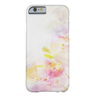 floral background with watercolor flowers barely there iPhone 6 case