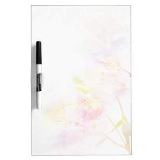 floral background with watercolor flowers dry erase board