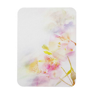 floral background with watercolor flowers magnet