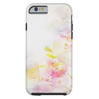 floral background with watercolor flowers tough iPhone 6 case