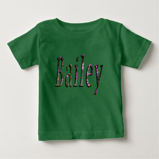 Floral Bailey Name Logo, Baby T-Shirt