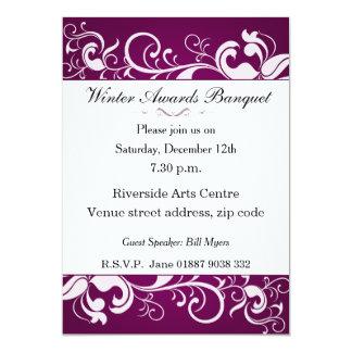 Floral Banquet Invitation