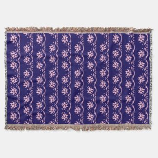Floral baroque style pattern. throw blanket