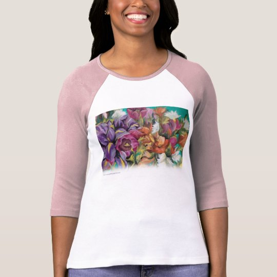 Floral Baseball T T-Shirt