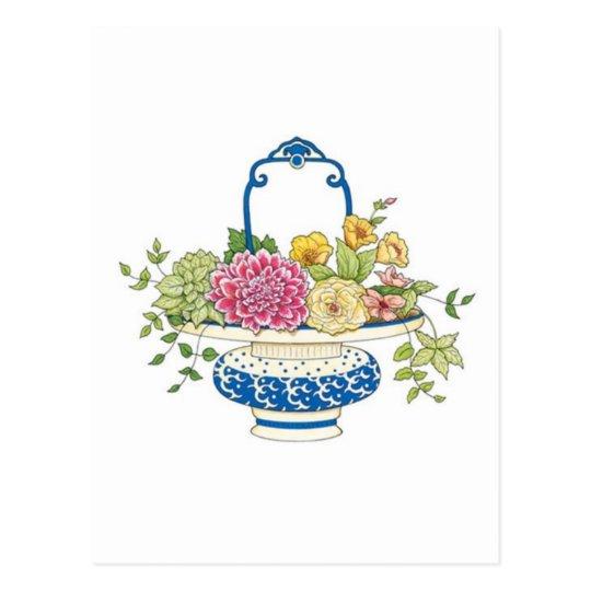 Floral Basket Postcard