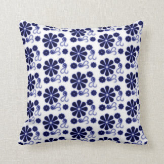 Floral Batik Swirl Pillow
