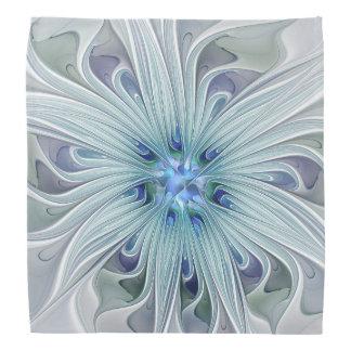 Floral Beauty Abstract Modern Blue Pastel Flower Bandannas