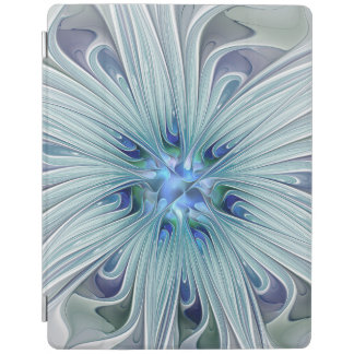 Floral Beauty Abstract Modern Blue Pastel Flower iPad Cover