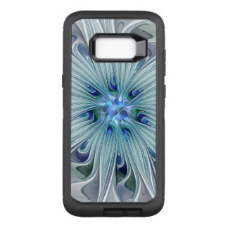 Floral Beauty Abstract Modern Blue Pastel Flower OtterBox Defender Samsung Galaxy S8+ Case