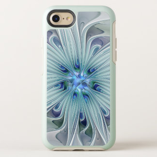 Floral Beauty Abstract Modern Blue Pastel Flower OtterBox Symmetry iPhone 8/7 Case