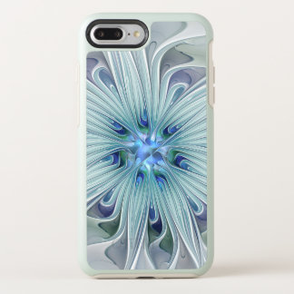 Floral Beauty Abstract Modern Blue Pastel Flower OtterBox Symmetry iPhone 8 Plus/7 Plus Case