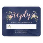 Floral Beauty Editable Colour Wedding Response 11 Cm X 14 Cm Invitation Card