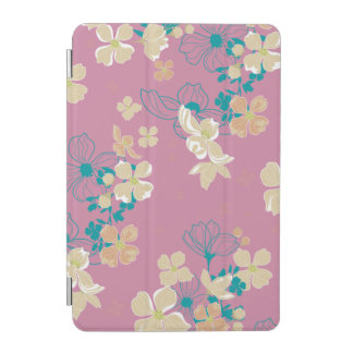 Floral Beige and Teal iPad Mini Cover