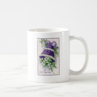Floral Bell Vintage New Year Basic White Mug