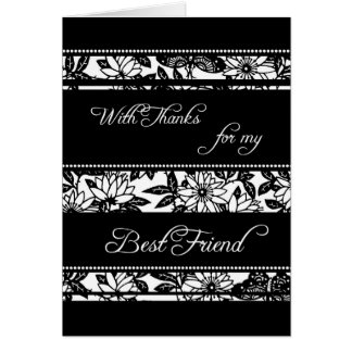 Floral Best Friend Thank You Maid of Honor Card
