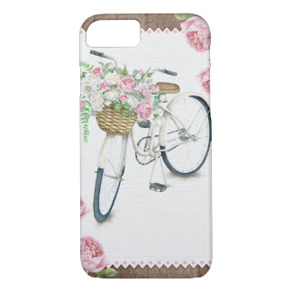Floral Bicycle wooden vintage rustic phone case