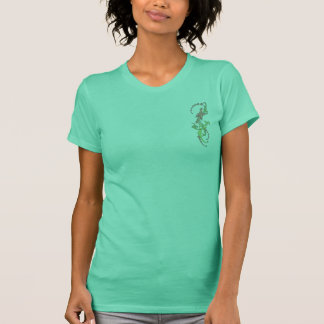 Floral Bird Front and Back T-Shirt
