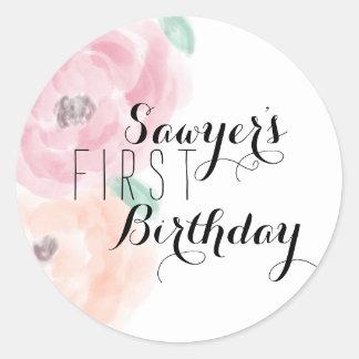 Floral Birthday Sticker