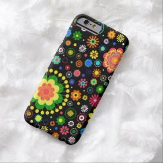 Floral black pattern barely there iPhone 6 case