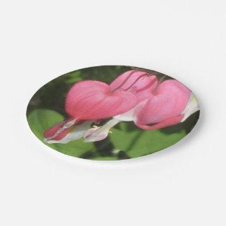 "Floral Bleeding Heart - Custom 7"" Paper Plates 7 Inch Paper Plate"