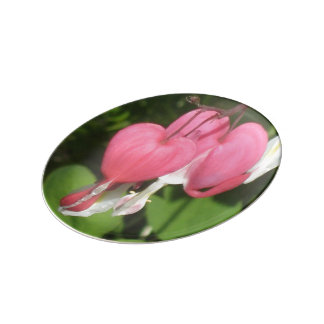 Floral Bleeding Heart - Decorative Porcelain Plate