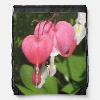 Floral Bleeding Heart - Drawstring Backpack