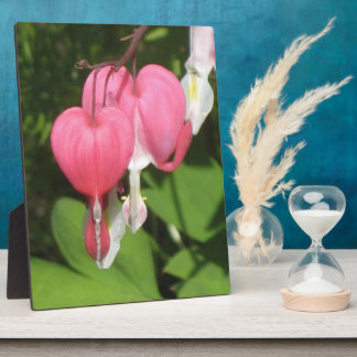 Floral Bleeding Heart Large Plaque With Easel
