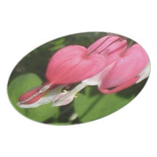 "Floral Bleeding Heart - Melamine 10"" Photo Plate"