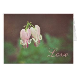 Floral-Bleeding Heart Note Card