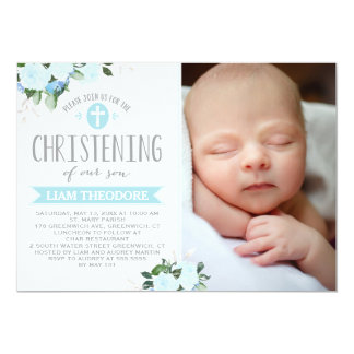Christening Invitations & Announcements | Zazzle.co.uk
