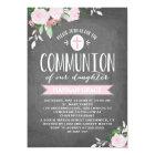 Floral Blooms Chalkboard | Communion Invitation